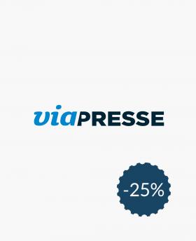 25% de réduction sur Viapresse