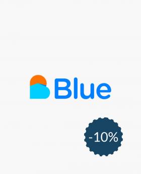 10% de réduction sur Blue...